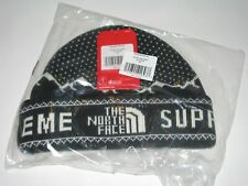 SUPREME x The North Face Expedition Face Fold Beanie BLACK Winter Hat Cap NEW!