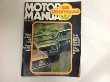 MOTOR MANUAL FEB 1971 HOLDEN VALIANT FALCON TEST SUPER TORANA CELICA 1600 GT