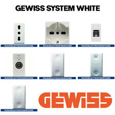 GEWISS SERIE SYSTEM WHITE ASSORTIMENTO