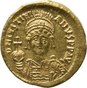 DIONYSOS Justinianus I. AV-Solidus Constantinopel Victoria  #MF 1070