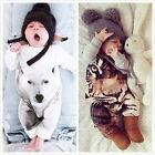 Newborn Kids Baby Boy Girl Warm Infant Romper Jumpsuit Bodysuit Clothes Outfit