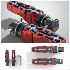 1 Pair Red Black CNC Aluminum Motorcycle ATVs Widened Anti-skid Rear Footpedals