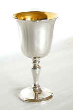 SOLID SILVER WINE GOBLET / KIDDUSH CUP (NEW) HALLMARKED ENGRAVABLE