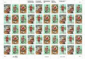 Santa and Children Sheet of Fifty 32 Cent Postage Stamps Scott 3004-07