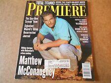 MATTHEW MCCONAUGHEY TITANIC SIGOURNEY WEAVER PREMIERE MAGAZINE DECEMBER 1997