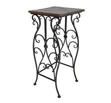 style ancienne table gigogne console selette table d appoint en fer bois 61x27cm