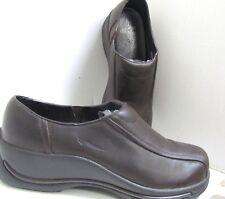 Dansko Brown Leather WEDGE Comfort Walking Shoe Loafer Clog 41 EXC