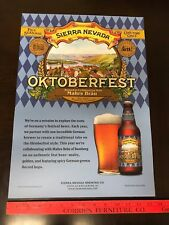 Sierra Nevada Beer (OKTOBERFEST) Limited Edition Beer Poster