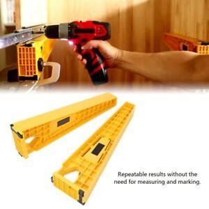 2pcs Drawer Slide Jig Locator Carpenter Drawer Slide Reversible Mounting Tools