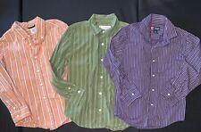 EUC Boys GYMBOREE CHAPS Lot Long Sleeve Button Down Shirts Sz M 7 8 Preppy