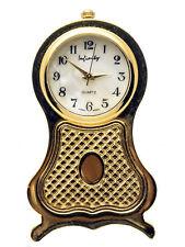 INFINITY: GOLD TONE OLD MANTEL STYLE  COLLECTABLE ANALOG QUARTZ MINI-CLOCK