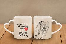 Englische Bulldog - ein Becher miteinem Griff inder Form des Herzens Subli DogDE