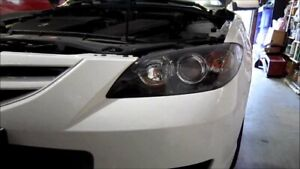 New Genuine Mazda 3 Headlight Covers Protectors Set BK Hatch Back BK1HHLC0VER