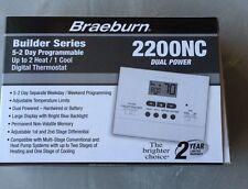 Braeburn 2200NC 2 Heat/1 Cool Programmable Tamper Proof Heat Pump Thermostat