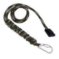 Tactical Knife/Gear Lanyard Outdoor Survival Keychain Strap Clip Hook Camo