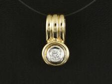 Schöner Brillant Clip Anhänger ca. 0,15ct   585 /- Gelbgold & Weißgold