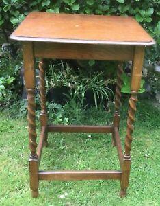 Vintage oak barley twist occasional table