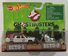 Hot Wheels Ghostbusters 2 Pack Ecto-1 & Ecto-2 - Cadillac Super Fast Ship LOOK!