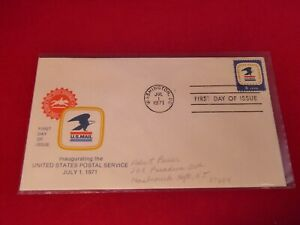 """Scott's No.1396 """"8c US Postal Service"""" First Day of Issue JUL 1, 1971"""