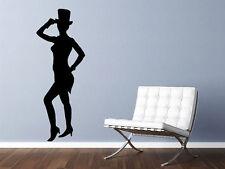 "Jazz Dancer Silhouette Wall Decal #4 Wall Decal Vinyl Sticker Home 36"" Tall"