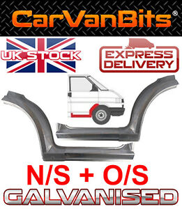 VW TRANSPORTER T4 90-03 FRONT WHEEL ARCH SILL REPAIR PANEL OUTER DOORSTEP SET