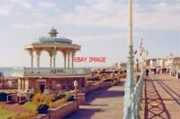 PHOTO  SUSSEX 1988 BRIGHTON WEST VIEW ALONG SEA-FRONT (KINGS ROAD) FROM ABOUT MO