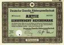 Deutsche Gasolin AG 1941 Leuna Halle Messel ARAL Bochum Wien 100 RM Hugo Stinnes