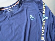 HOOK & TACKLE SOLAR SYSTEM FISHING SHIRT 50+ SUN PROTECTION XL BLUE