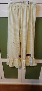 Matilda Jane Girls Big Ruffles Pants Size 10 Hole In Knee Yellow