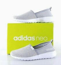 NIB Adidas Women's Neo Lite Racer Slip On Shoes Grey 10 MED AW4084 Cloudfoam