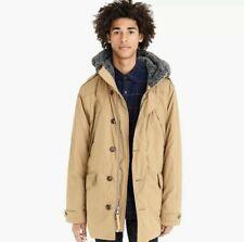 NEW JCrew Wallace Barnes Khaki Cordura Parka Jacket Nordic Primaloft L K2455