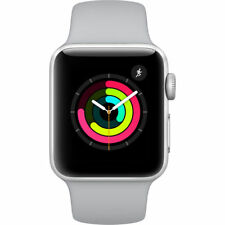 Apple Watch Series 3 42mm Silber Aluminium Gehäuse Nebel Sportarmband GPS OVP