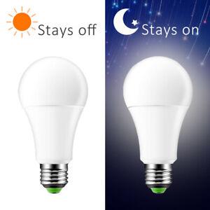 E27 7W LED Sensor Bulb Dusk To Dawn Light Auto Bulb Lamp Indoor Outdoor 110/220V