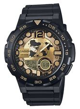 Casio Watch * AEQ100BW-9AV Telememo 3D Dial Gold & Black COD PayPal