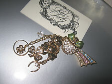 "Gold Brooch"" W/Stunning Sparkle-Goldtone Tb2/2 Kirks Folly Rare/Signed ""Pot Of"