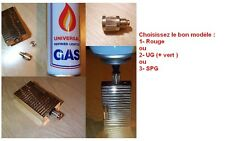 Adaptateur recharge gaz pour VRAI BRIQUET ST Dupont