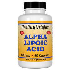 Acido Alfa Lipoico, 600mg x 60 Capsules - Healthy Origins