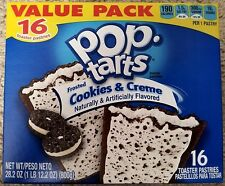 NEW Pop Tarts Toaster Pastries Frosted Cookies & Creme 16 Count Free Shipping