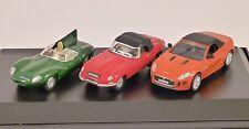 JAGUAR F Type / E Type / D Type 3 Car Set 1/76 scale model by Oxford Diecast