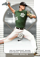 """THOMAS SCHULTZ """"1ST EVER PRINTED"""" 2018 LEAF PERFECT GAME ROOKIE CARD!"""