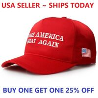 Red MAGA Make America Great Again President Donald Trump Hat Cap Embroidered USA