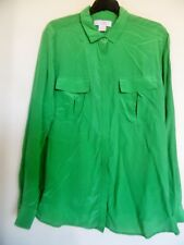 921db7e574c4c Joe Fresh Woman s Green Long Sleeve Button Up Shirt Size XL