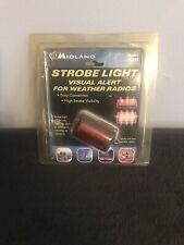 MIDLAND STROBE LIGHT VISUAL ALERT FOR WEATHER RADIOS MODEL 18-STR EASY WARNING