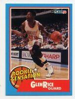 1990-91 Fleer GLEN RICE Rookie Card RC SENSATION INSERT 3 Miami Heat WOLVERINES