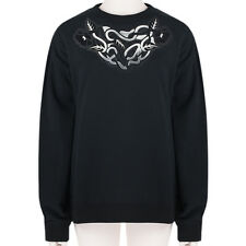 Christopher Kane Black Silver Art Nouveau Loopback Cotton Sweatshirt M UK10