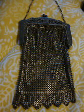 Vintage whiting & Davis Silver Mesh mini Evening Bag Purse Coin