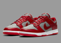 Nike Dunk Low (GS) Medium Grey Varsity Red CW1590-002 Kid's Shoes NEW
