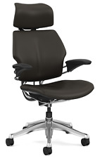 Humanscale Freedom F213 Terra Bizon Leather Aluminum Base Office Desk Chair
