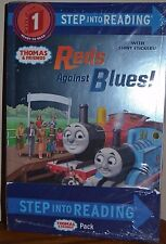 THOMAS AND FRIENDS BOOKS (6 PK) W SHINY STICKERS, STAGE 1&2 PAPERBACK BOOKS BN