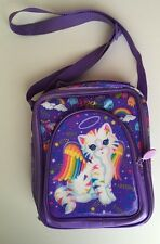 Lisa Frank Lunch Box Cat Chrissy Kitty Purple Angel Wings Sparkly Butterfly